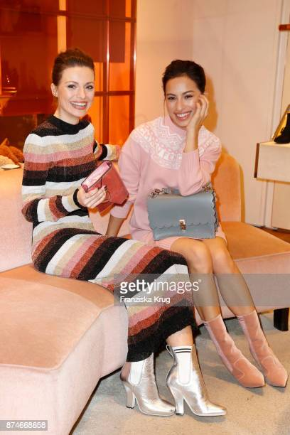Julia Hartmann and Gizem Emre attend the Fendi x mytheresacom Event on November 15 2017 in Munich Germany