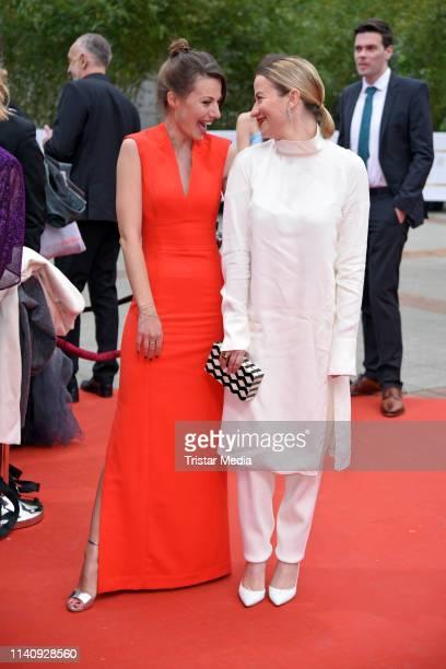 Julia Hartmann and Nina Gummich arrive at the German Film Award 2019 at Palais am Funkturm on May 3 2019 in Berlin Germany
