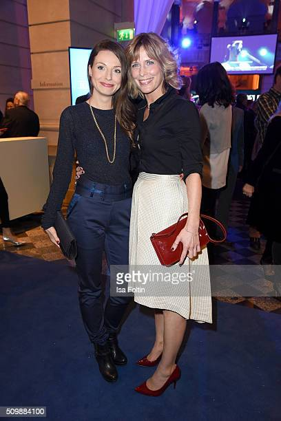 Julia Hartmann and Valerie Niehaus attend the ARD Hosts Blue Hour Reception on February 12 2016 in Berlin Germany