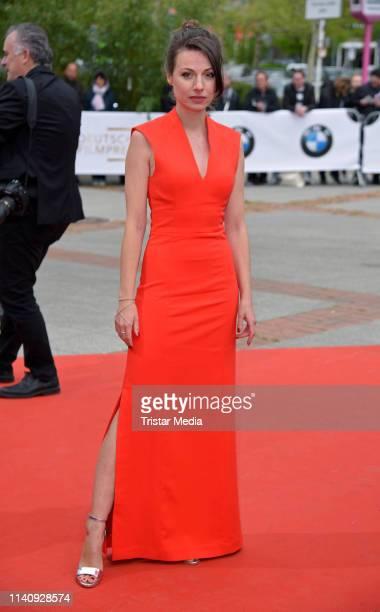 Julia Hartmann arrives at the German Film Award 2019 at Palais am Funkturm on May 3 2019 in Berlin Germany