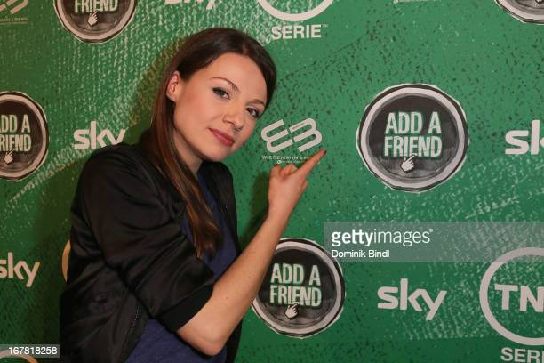 Julia Hartmann attends 'Add a Friend' Preview Event of TNT Serie at Bayerischer Hof on April 30 2013 in Munich Germany The second season series...