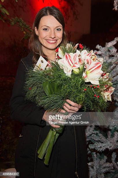 Julia Hartmann attends the 'Alles ist Liebe' premiere at CineStar on November 25 2014 in Berlin Germany