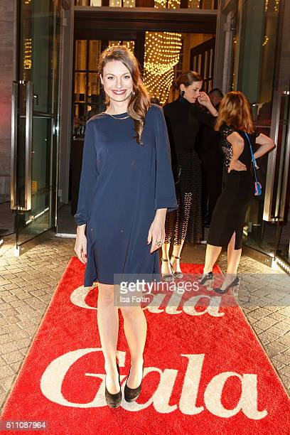 Julia Hartmann attends the 'Berlin Opening Night Of GALA UFA Fiction on February 11 2016 in Berlin Germany