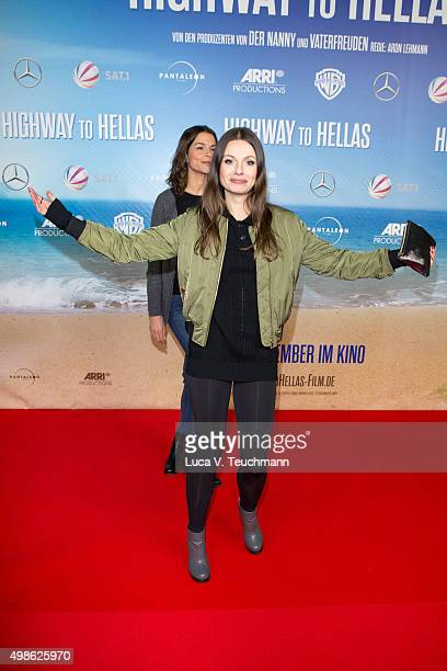 Julia Hartmann attends the 'Highway to Hellas' German Premiere at Kino in der Kulturbrauerei on November 24 2015 in Berlin Germany