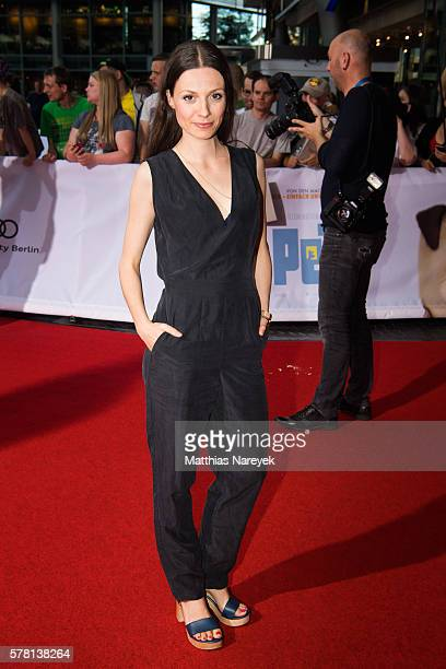 Julia Hartmann attends the premiere of the film 'PETS' at CineStar on July 20 2016 in Berlin Germany