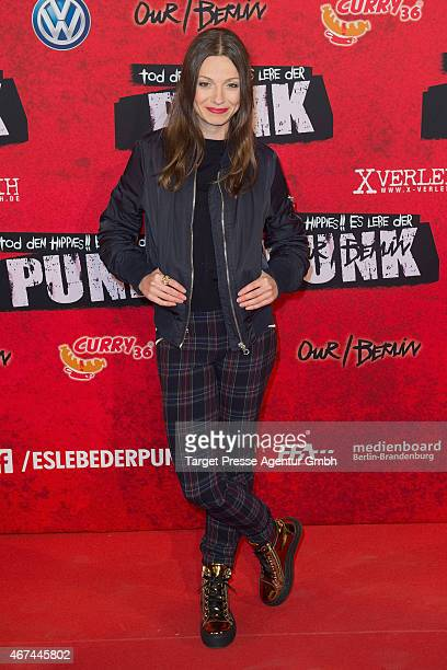 Julia Hartmann attends the premiere of the film 'Tod den Hippies Es lebe der Punk' at UCI Kinowelt on March 24 2015 in Berlin Germany