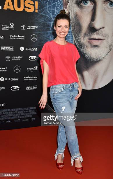 Julia Hartmann attends the 'Steig Nicht Aus' Premiere on April 9 2018 in Berlin Germany