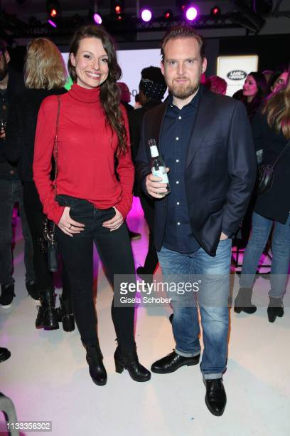 Julia Hartmann Axel Stein during the presentation of the new Range Rover Evoque at Berlin Bridge Studios on March 28 2019 in Berlin Germany