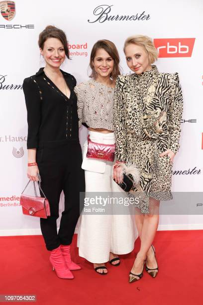 Julia Hartmann Christian Do Rego and Anna Maria Muehe attend the Medienboard BerlinBrandenburg Reception on the occasion of the 69th Berlinale...