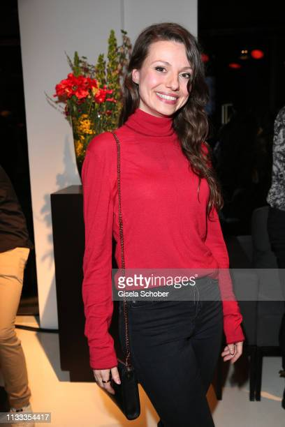 Julia Hartmann during the presentation of the new Range Rover Evoque at Berlin Bridge Studios on March 28 2019 in Berlin Germany