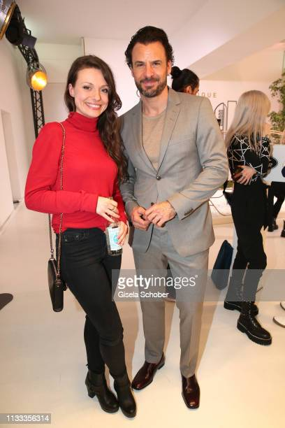 Julia Hartmann Stephan Luca during the presentation of the new Range Rover Evoque at Berlin Bridge Studios on March 28 2019 in Berlin Germany