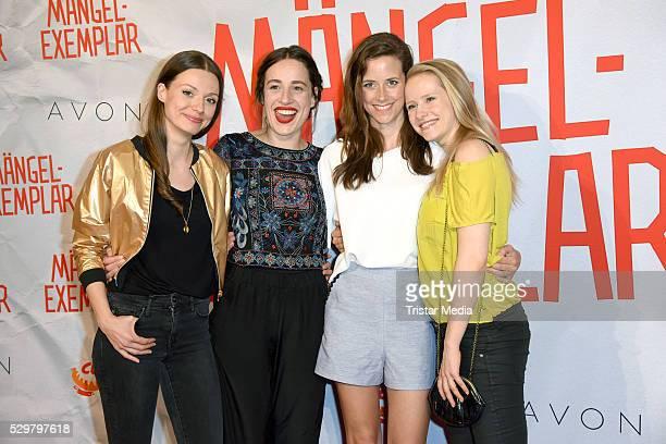 Julia Hartmann Tina Henkel Anja Knauer and Susanne Bormann attend the 'Maengelexemplar' German Premiere on May 09 2016 in Berlin Germany