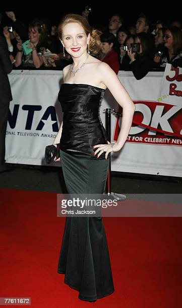 Julia Haworth arrives for the National Television Awards 2007 at the Royal Albert Hall on October 31 2007 in London England