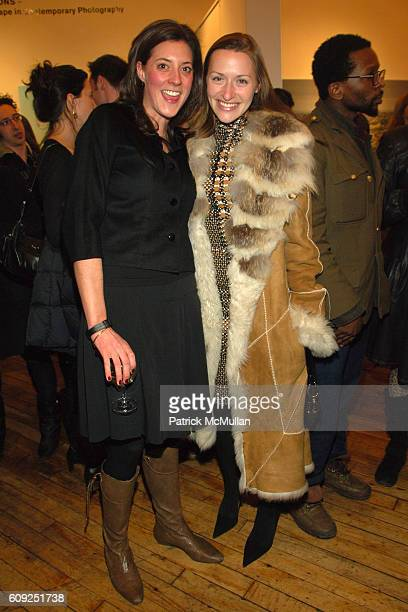 Julia Heinemann and Lara Meiland Shaw attend Grand Opening of the LUMAS Editions Gallery at 77 Wooster St on February 22 2007 in New York NY