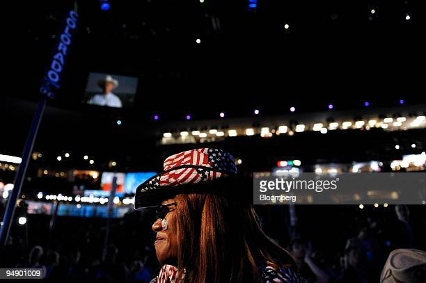 Julia Hicks, a delegate from Colorado, Ann Zucker, attends day one of the 2008 Democratic National Convention in Denver, Colorado, U.S., on Monday,...