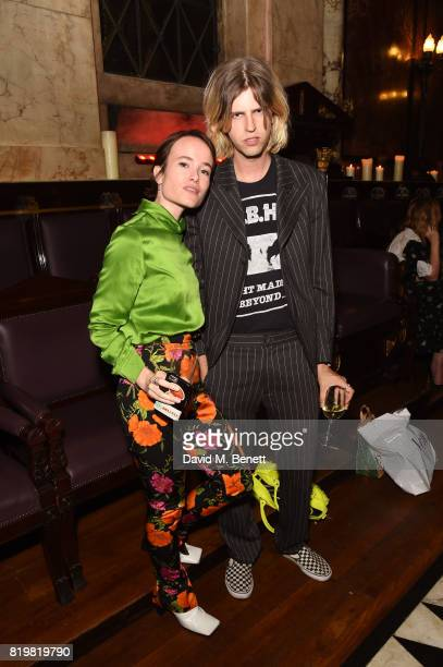 Julia Hobbs and Bunny Kinney attend a dinner to celebrate the launch of the Luisaviaroma LVR Edition 3 project by Dilara Findikoglu at Andaz...