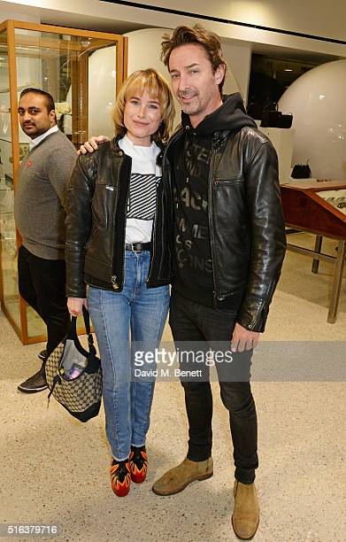 Julia Hobbs and guest attend an exclusive VIP preview of the Dover Street Market on March 18 2016 in London England