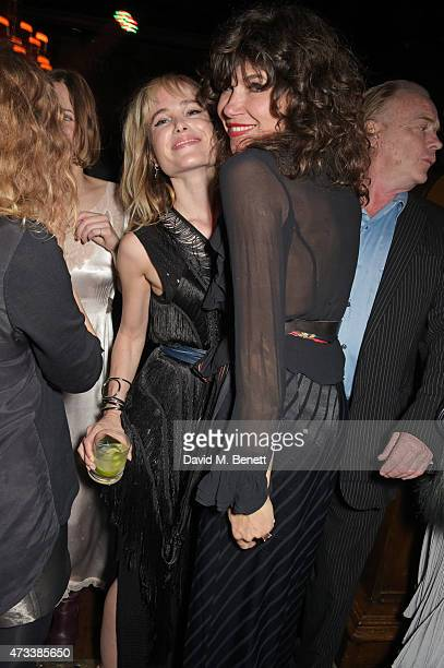 Julia Hobbs and Jess Morris attend Sam McKnight's 60th Birthday Party at Tramp on May 14 2015 in London England