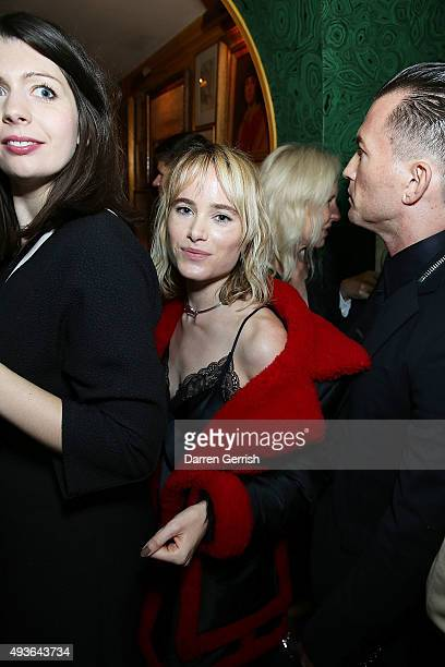 Julia Hobbs attends A Bigger Splash premiere after party presented by AnOther x Dior at Annabel's on October 21 2015 in London England