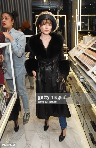 Julia Hobbs attends a party hosted by Tom Ford Beauty and Dazed to celebrate the launch of Tom Ford Extreme at Tom Ford Store Covent Garden on March...