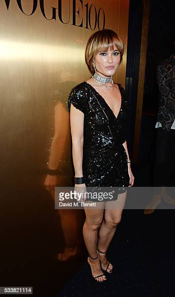 Julia Hobbs attends British Vogue's Centenary birthday party at Tramp on May 23 2016 in London England
