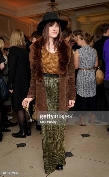 Julia Hobbs attends exhibition and book launch celebrating the monthly style title's 20th anniversary at Somerset House on November 4 2011 in London...