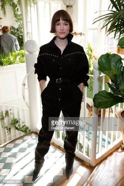 Julia Hobbs attends lunch to celebrate Alberta Ferretti's 'Love Me' collection with EcoAge at Mr Fogg's House of Botanicals on March 28 2019 in...