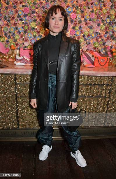 Julia Hobbs attends the Kurt Geiger and Susie Bubble celebration for the new 'Characterful Style' campaign at Annabel's on February 15 2019 in London...