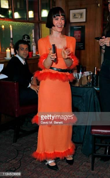 Julia Hobbs attends the Kurt Geiger x Julia Hobbs WaterAid charity pub quiz on April 2 2019 in London England