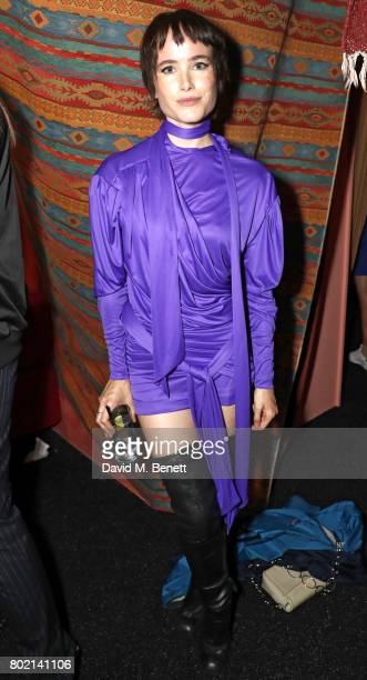 Julia Hobbs attends the launch of Skepta's new fashion label 'Mains' at Selfridges on June 27 2017 in London England