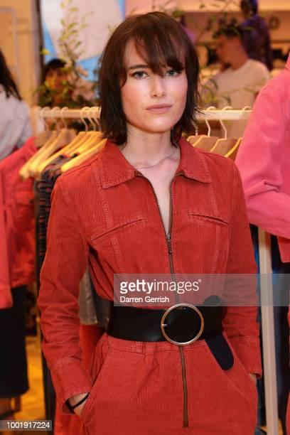 Julia Hobbs attends the MIH Jeans x Bay Garnett Golborne Road event on July 19 2018 in London United Kingdom