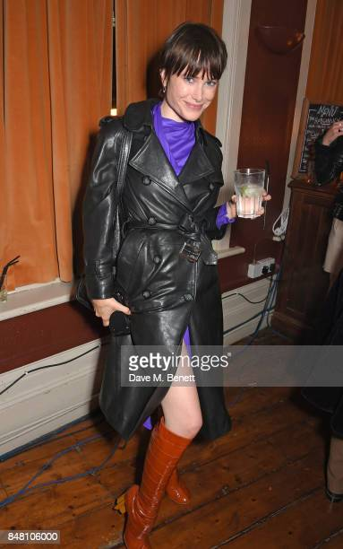 Julia Hobbs celebrate Burberrys September collection and the Dazed Burberry cover shot by Angelo Penetta during London Fashion Week on September 16...