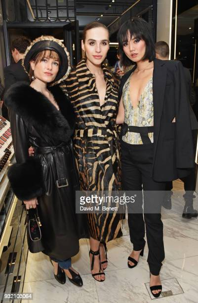 Julia Hobbs Maxim Magnus and Betty Bachz attend a party hosted by Tom Ford Beauty and Dazed to celebrate the launch of Tom Ford Extreme at Tom Ford...