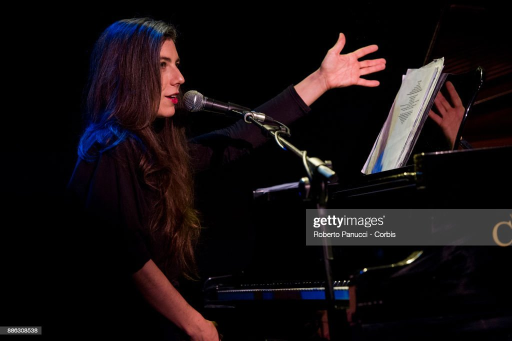 Julia Holter perform on stage on December 3, 2017 in Rome, Italy.