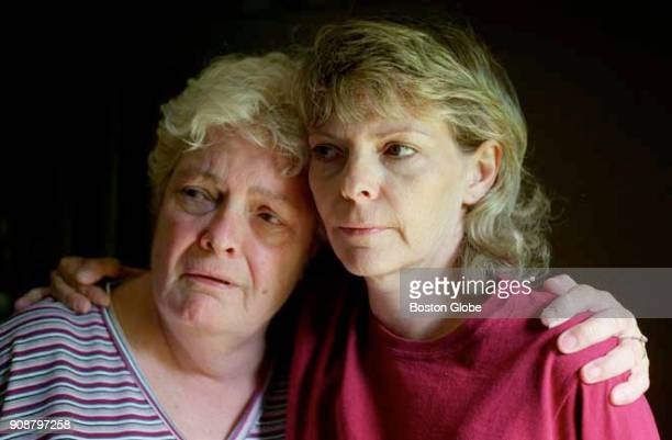 Julia Hudon and Christine Duquette pose for a photo in Florence Mass on Aug 17 2000 Their son and brother Henry Hudon died at the Northampton...