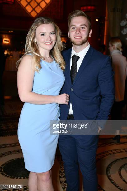 Julia Hussey and Tommy Batchelor attend The One Love Foundation's One Night for One Love at Cipriani 42nd Street on April 10 2019 in New York City