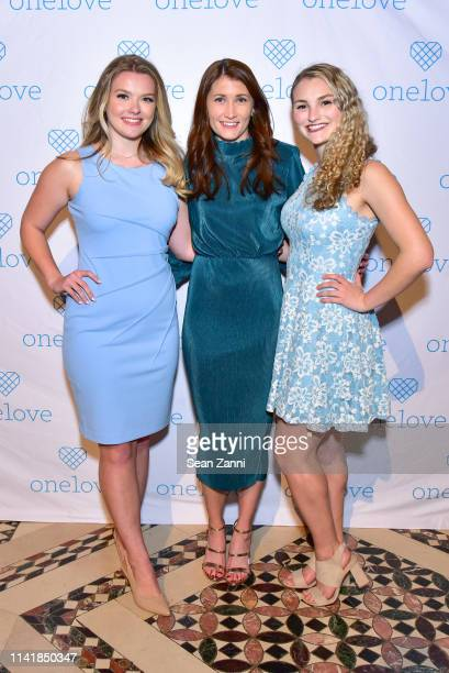 Julia Hussey Julia Landauer and Kelsey Kempner attend The One Love Foundation's One Night for One Love at Cipriani 42nd Street on April 10 2019 in...