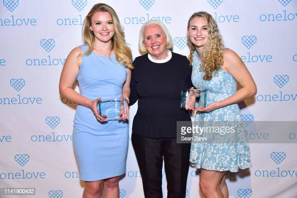 Julia Hussey Sharon Love and Kelsey Kempner attend The One Love Foundation's One Night for One Love at Cipriani 42nd Street on April 10 2019 in New...