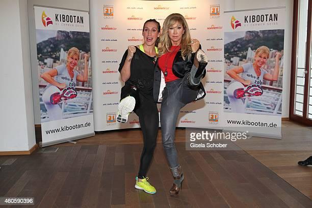 Julia Irmen kickbox worldchampion 2014 Carmen Geiss during the presentation of the online fitness and nutrition program 'Kibootan' on December 17...