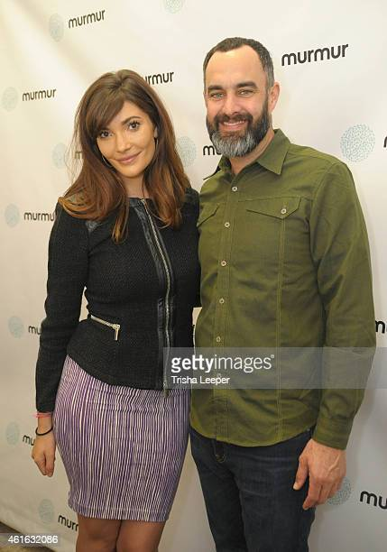 Julia Jackson and Tucker Taylor attend the Murmur APP Launch San Francisco at Trick Dog on January 15 2015 in San Francisco California