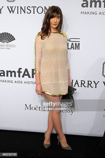 Julia Jackson attends the 2015 amfAR New York Gala at Cipriani Wall Street on February 11 2015 in New York City