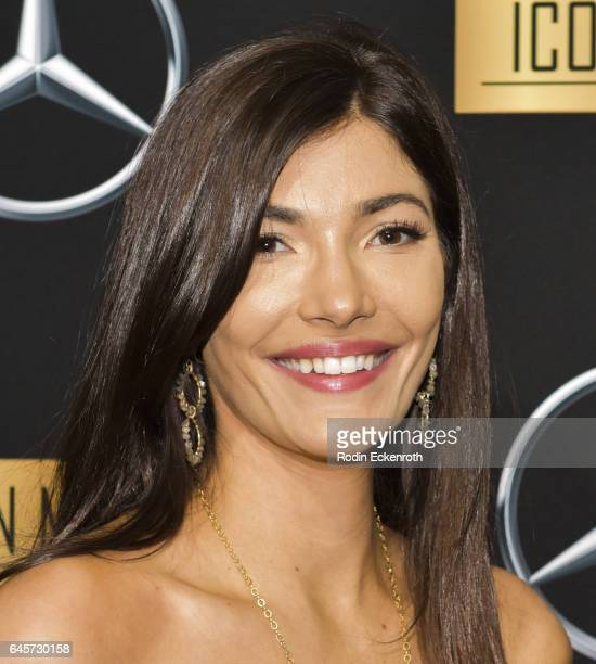 Julia Jackson attends the MercedesBenz x ICON MANN 2017 Academy Awards Viewing Party at Four Seasons Hotel Los Angeles at Beverly Hills on February...