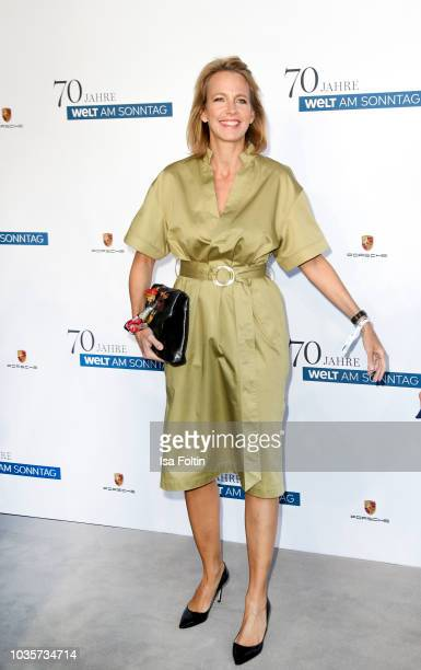 Julia Jaeckel during the 70th anniversary celebration of the German Sunday newspaper WELT AM SONNTAG at The Fontenay Hotel on September 18 2018 in...
