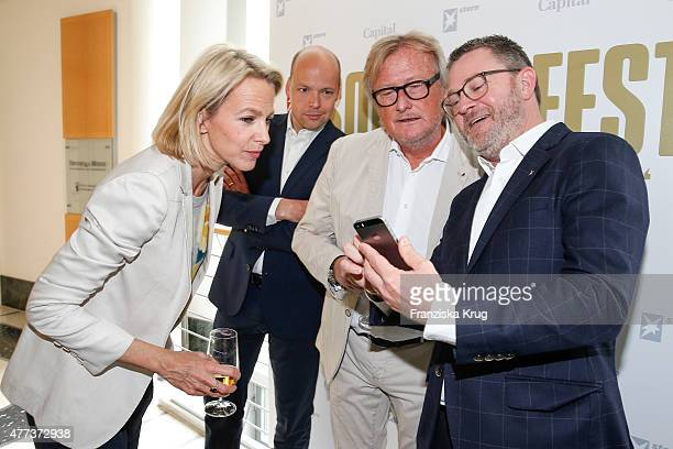Julia Jaekel Horst von Buttlar HansUlrich Joerges and Christian Krug attend the STERN And CAPITAL Summer Party on June 16 2015 in Berlin Germany
