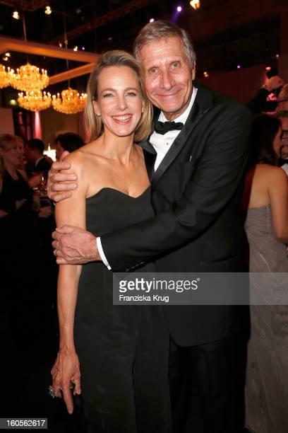 Julia JaekelWickert and Ulrich Wickert attend 'Goldene Kamera 2013' at Axel Springer Haus on February 2 2013 in Berlin Germany