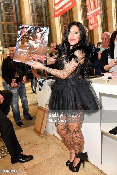 Julia Jasmin Ruehle alias JJ during the Venus Erotic Fair Opening 2017 on October 12, 2017 in Berlin, Germany.