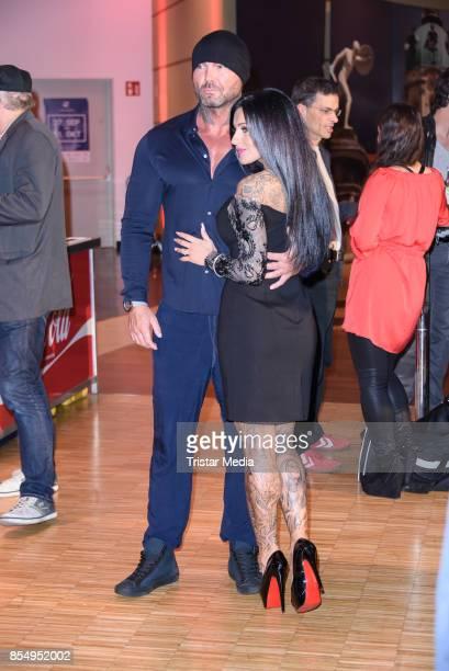 Julia Jasmin Ruehle and her new boyfriend Rene Marschke attend the Serienale Opening on September 27, 2017 in Berlin, Germany.