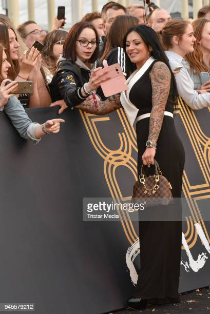 Julia Jasmin Ruehle arrives at the Echo Award 2018 at Messe Berlin on April 12 2018 in Berlin Germany
