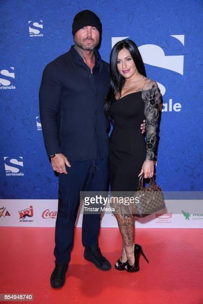 Julia Jasmin Ruehle with her new boyfriend Rene Marschke attend the Serienale Opening on September 27 2017 in Berlin Germany