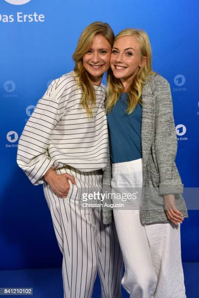 Julia Jentsch and Elisa Schlott pose during the photo call for 'Das Verschwinden' at the Hotel Atlantic on August 31 2017 in Hamburg Germany